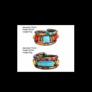 Set of 2 Boho Statement Bracelets